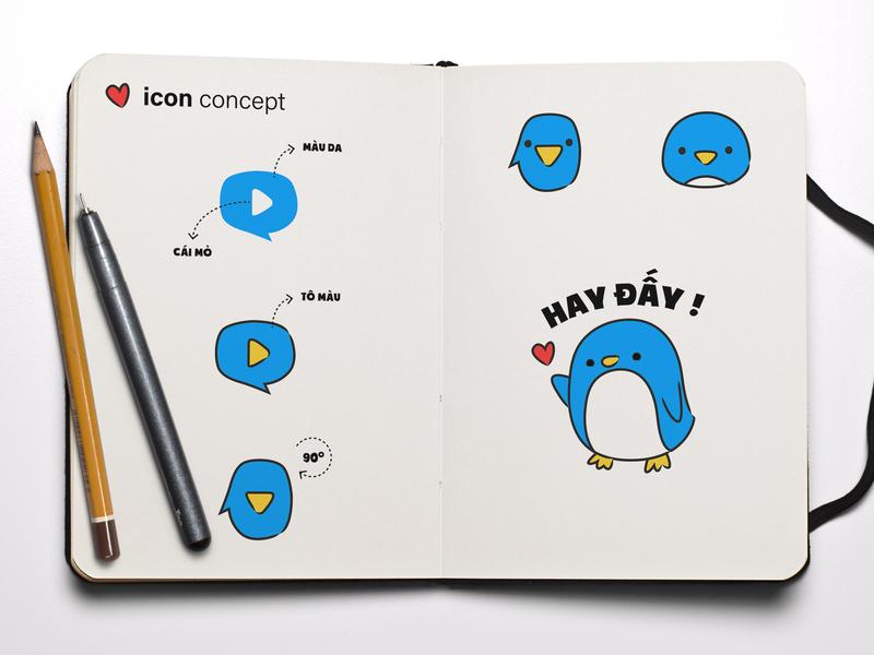 [Emoticon] Myclip penguin emoticon concept illustration design