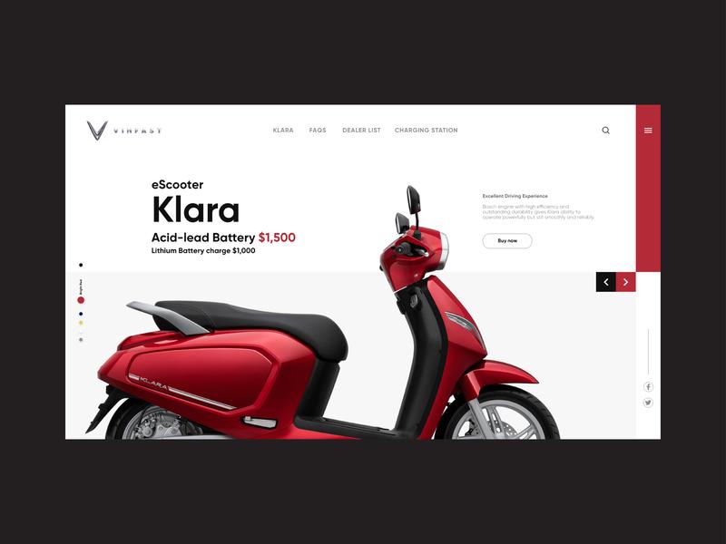 Web | Vinfast Klara™ escooter klara vinfast website web ux ui concept design