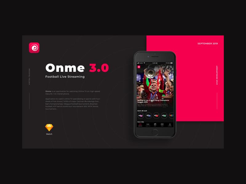 App | Onme 3.0 video sports live tv app ux ui concept design