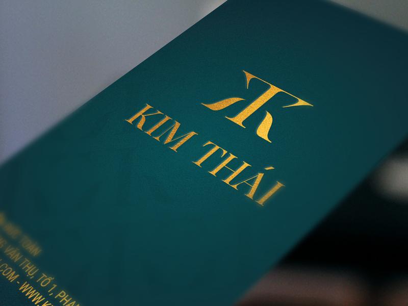 Card | Kim Thái luxury real estate golden thai kim hotel card branding illustration logo concept design