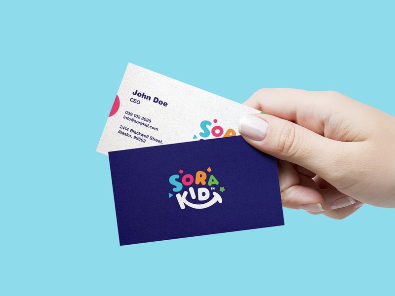 Card | SoraKid smart toy kid toy card designer branding illustration logo concept design