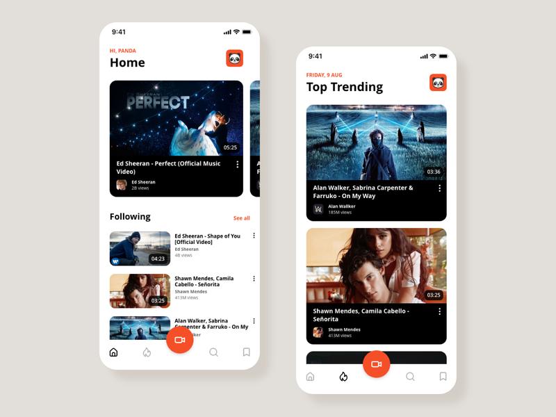 App | Social Video video social app ux ui branding illustration concept design