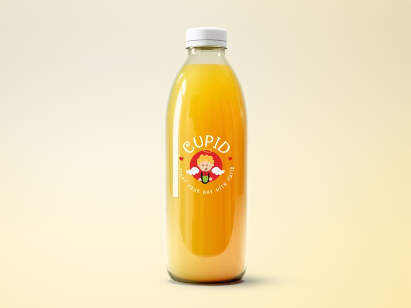 Bottle | Cupid Juices & Smoothies bottle cupid smoothie juice panda designer branding logo concept design