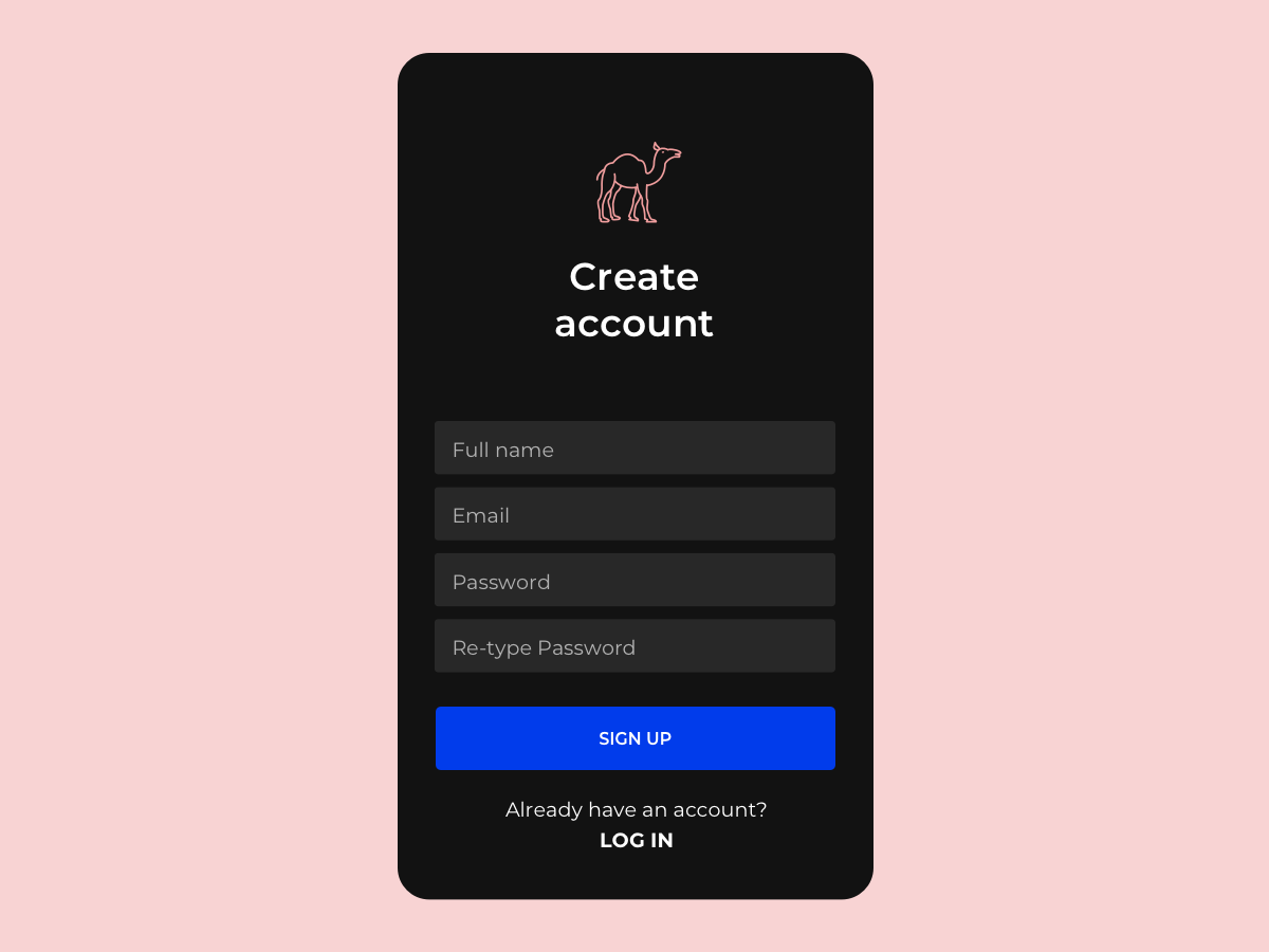Sign Up dailyui dailyuichallenge login create account signup sign in register app account ios ux ui
