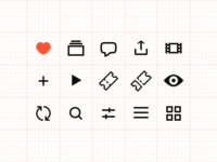 Kinopoisk Personality Page Icons Set