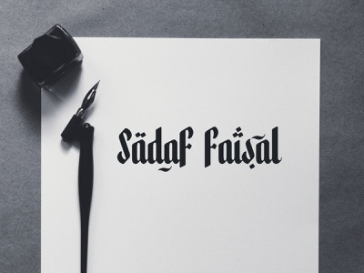 Arabic calligraphy logo for a Fashion Designer brand mumbai india branding pakistani pakistan dubai urdu calligraphy logo calligraphy arabic typography arab arabic logo arabic creative designer logo fashion