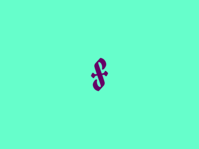 S+F monogram for a fashion designer