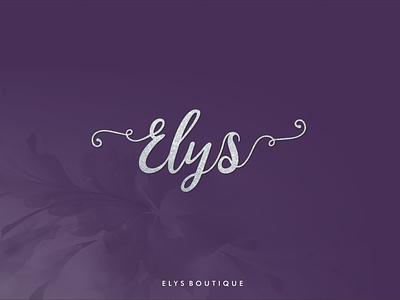Elys Boutique- Branding highstreet cute silver purple lifestyle apparel boutique logo boutique fashion design illustration brand mumbai india branding creative identity logo