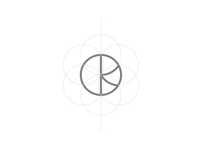 KAP monogram construction work in progress circle geometry golden ratio goldenratio workinprogress simple best symbol monogram brand mumbai india branding creative identity logo