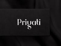 Unique type based logo for Priyati jewellery logo silver jewellery shop jewellery typographic typography logodesign logotype symbol monogram brand mumbai india branding creative logo design identity logo