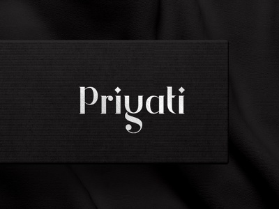 Unique type based logo for Priyati jewellery logo silver jewellery shop jewellery typographic typography logodesign logotype symbol monogram brand mumbai india branding creative logo design identity logo