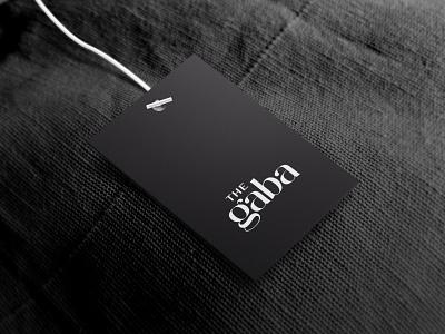 Logo for a clothing brand- The Gaba serif typelove typelogo typography design type typography identity branding brand mumbai india branding creative identity logo