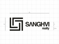 grid & proportion for Sanghvi Realty logo