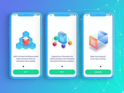 Iame Mobile App Onboarding blockchain security compliance bitcoin ethereum wallet cryptocurency