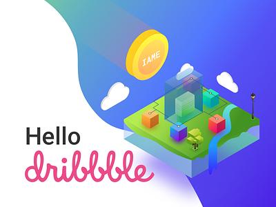 Hello Dribbble decentralised cryptocurrency iame hellodribbble