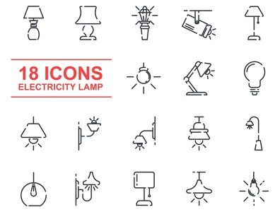 lamp set icon template