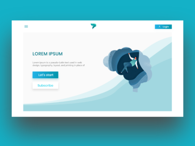 ThoughtFlow Landing Page Concept