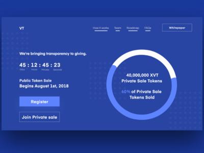 Upcoming ICO Landing Page