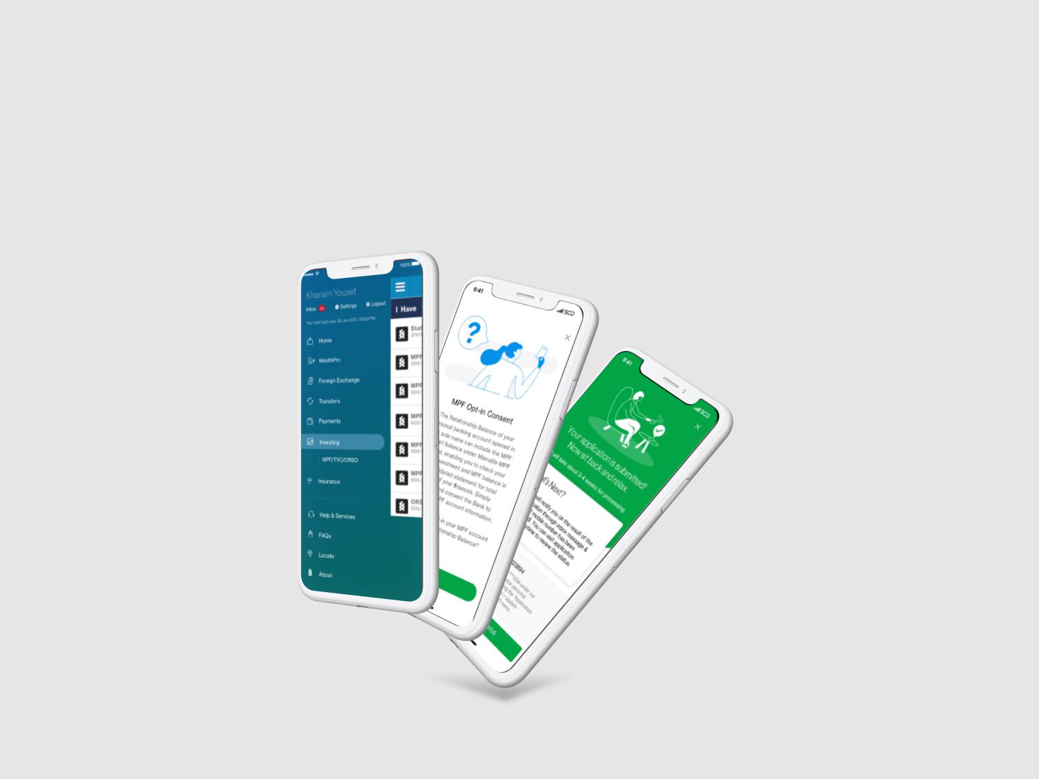 SC MPF HK Mobile Banking Screens sketchapp design mobile sketch uiux