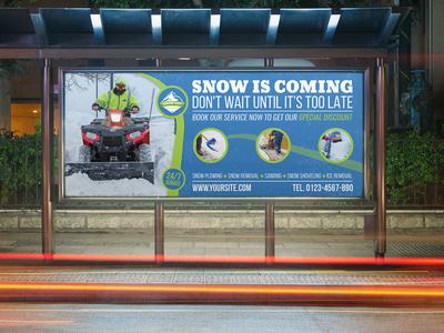 Snow Removal Service Billboard Template