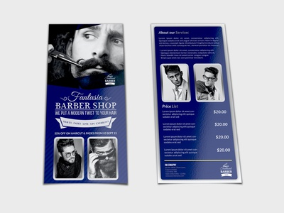 Barber Shop Flyer DL Size Template