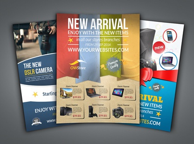 New Arrival Flyer Bundle Template
