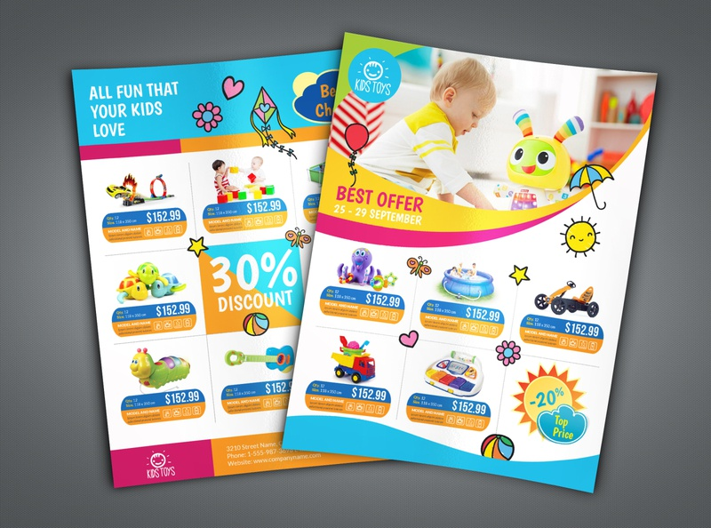 Toys Products Flyer Catalog Template