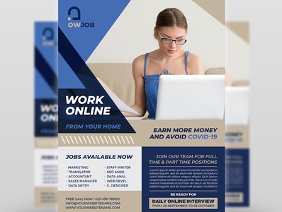 Work Online Flyer Template