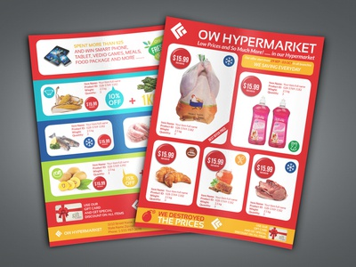 Supermarket Products Flyer Template