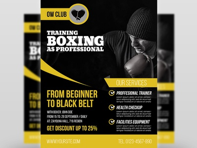 01 Boxing Training Flyer Template