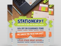 Stationery Products Flyer Template product description product cataloque product catalog product poster pen office leaflet interior design interior industrial flyer design computer commerce comerce cataloque catalog brochure advertisement