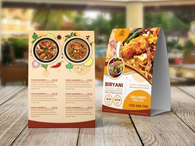 Biryani Restaurant Table Tent Template spicy restaurants restaurant opening flyer restaurant advertising flyers poster menu graphic design leaflet indian restaurant flyer indian food poster ideas food leaflet design food flyer templates biryani images biryani flyer biryani advertisement