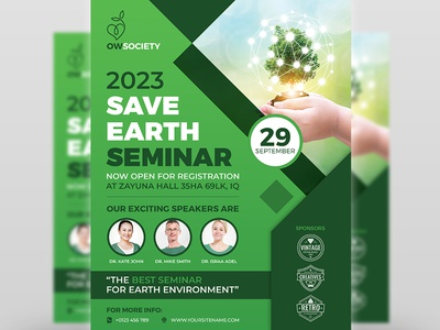 Environment Seminar Flyer Template seminar flyer examples seminar flyer design seminar save earth save poster pollution organic nature meeting leaflet green flyer templates environmental posters environmental flyer template environment poster environment eco earth