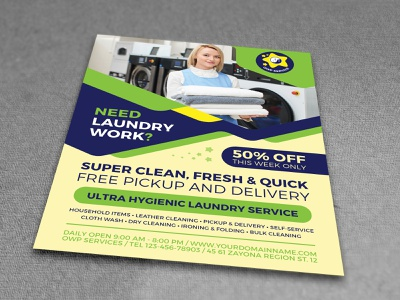 Laundry Services Flyer Template services service presentation poster postcard post marketing set magazine ad magazine laundry hangers flyer template flyer fashion dry dirty clothing clothes cloth cleaner