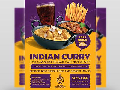 Indian Restaurant Flyer Template Vol.3 restaurant
