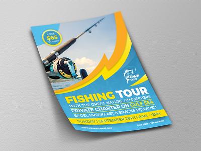 Fishing Flyer Template sport