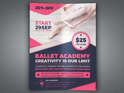 Ballet Dance Academy Flyer Template Vol.2 sexy