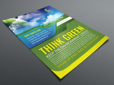 Environment / Nature Flyer Template save earth