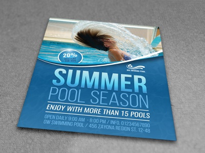 Swimming Pool Flyer Template summer lessons