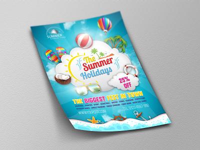 Summer Travel Flyer Template kindergarten