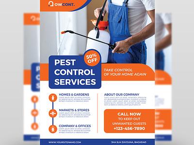 Pest Control Services Flyer Template renovators