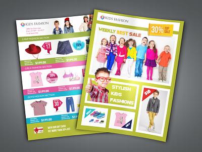 Kids Fashion Catalog Flyer Template kids flyer