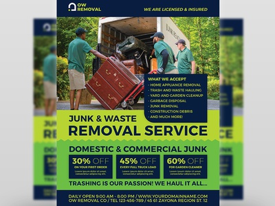 Junk Removal Services Flyer Template recycle