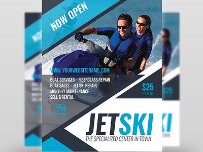 Jet Ski Flyer Template racing