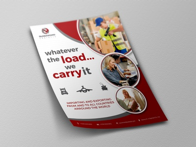 Freight And Logistic Services Flyer leaflet