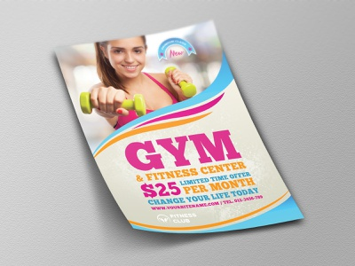 Fitness – Gym Flyer Template poster