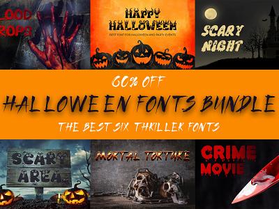 Halloween Fonts Bundle comics cartoon font