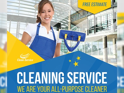 Cleaning Services Flyer Template By Owpictures Dribbble Dribbble