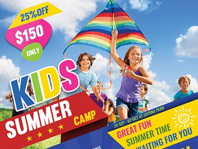 Kids Summer Camp Flyer Template By Owpictures Dribbble