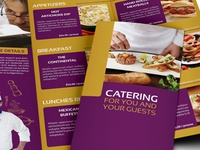 Catering Tri Fold Brochure Template